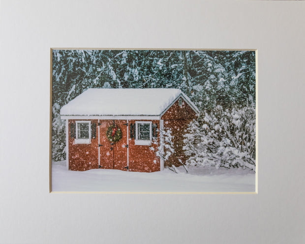 Snowy Barn Print - piper-and-dune - Home Goods