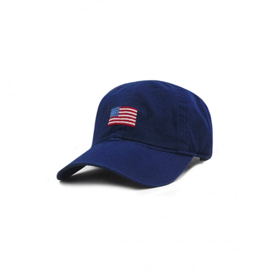 American Flag Small Fit Needlepoint Hat