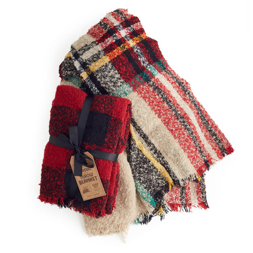 Classic Plaid Throw - 2 Options - piper-and-dune - Home Goods