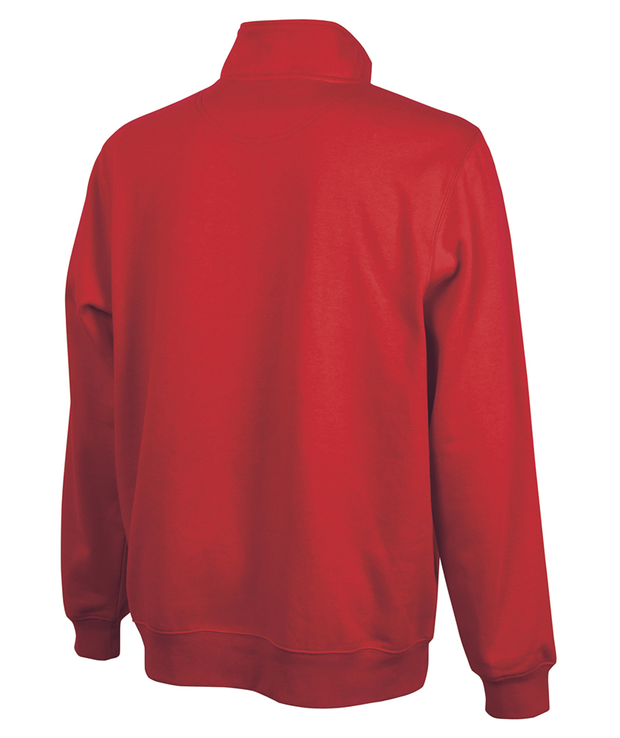 Unisex Crosswind 1/4 Zip Sweatshirt - Red