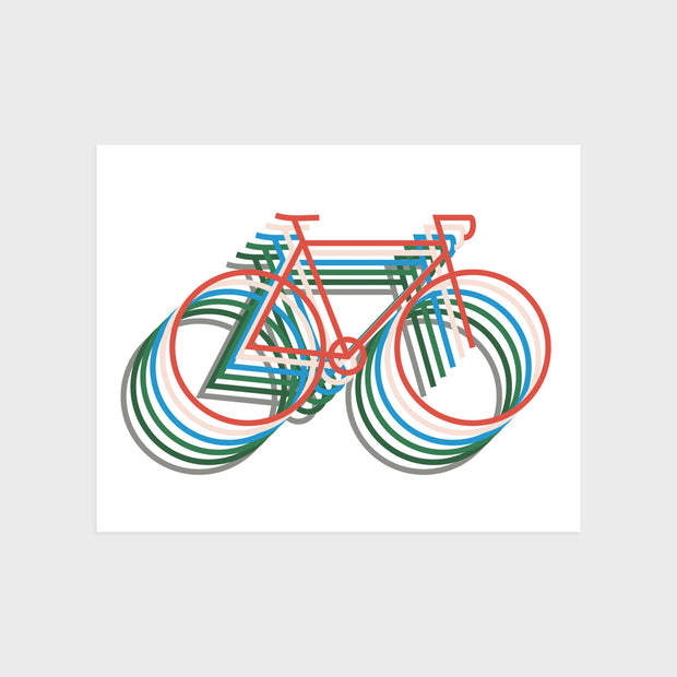 "Bicycle Print 8"" x 10"""