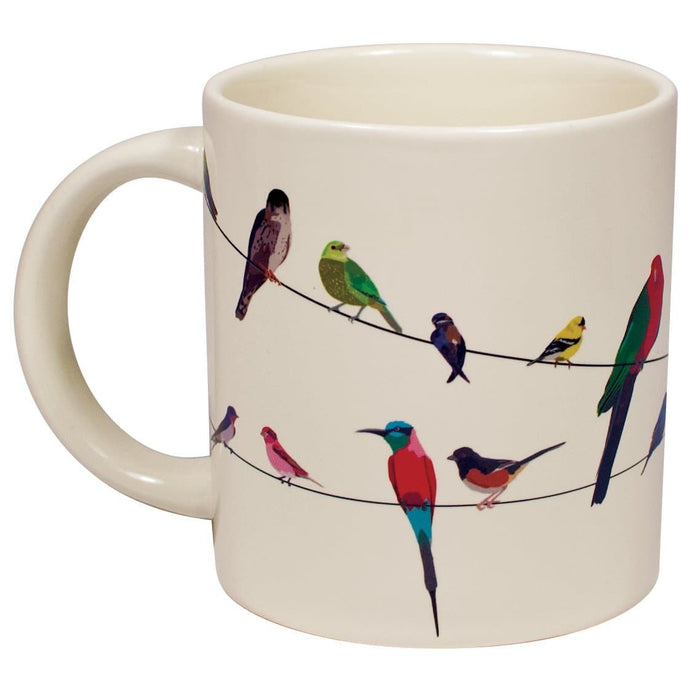 Birds on a Wire Disappearing Mug 10oz. - piper-and-dune - Kitchen