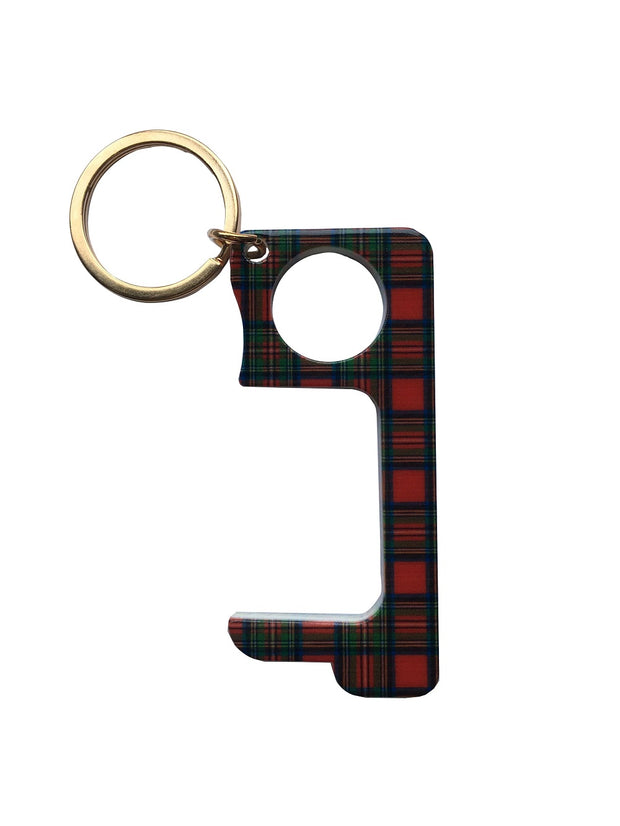 Hands Free Key Chain - Red Tartan
