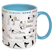 10oz. Yoga Mug  How to Yoga w/ Coaster - piper-and-dune - Kitchen