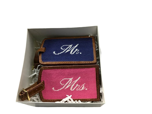 """Mr. and Mrs."" Smathers & Branson Luggage Tags - piper-and-dune - Leather Goods"