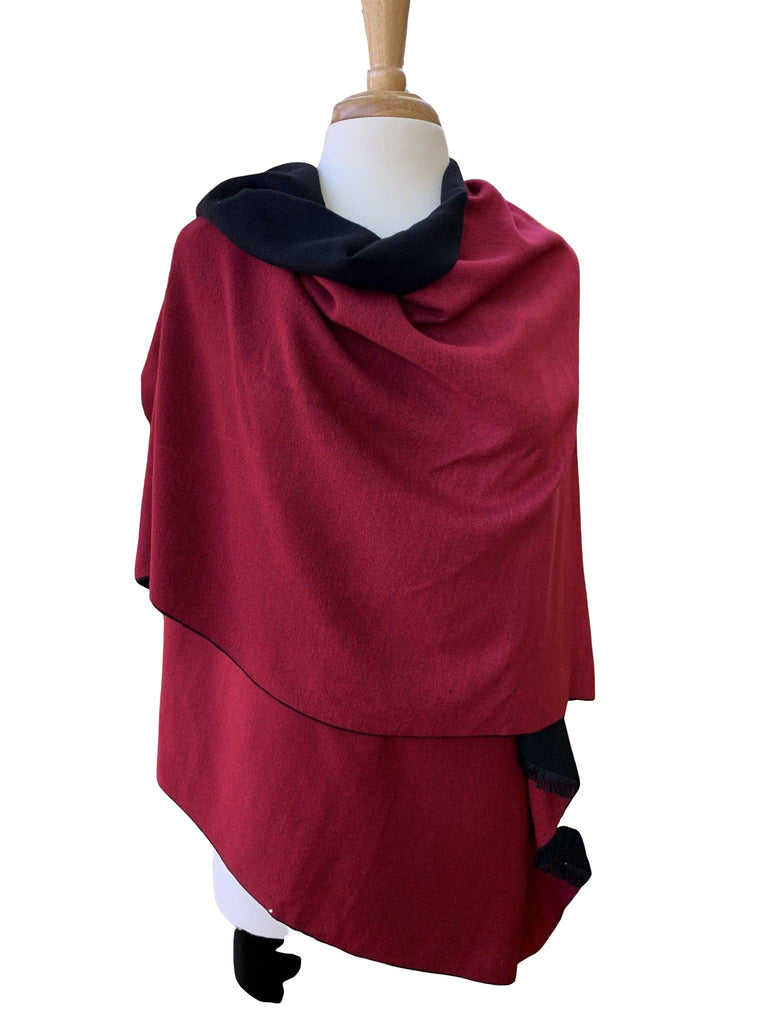 100% Cashmere Reversible Cape