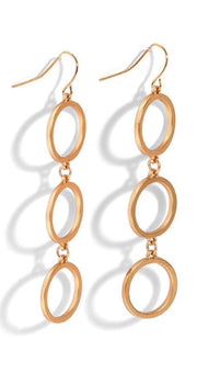 Open Circle Dangle Earrings- 3 Options - piper-and-dune - Jewelry