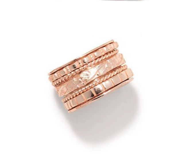 Rotating Wide Band Ring - 3 Colors - piper-and-dune - Jewelry