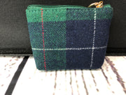 Classic Plaid Zippered Purse Keychain