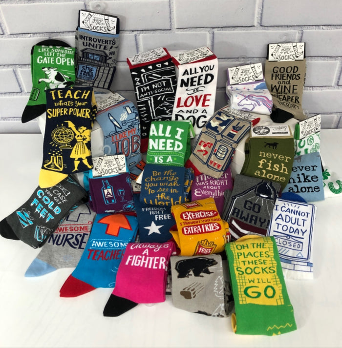 Funny Socks - One Size Fits Most - 27 Styles