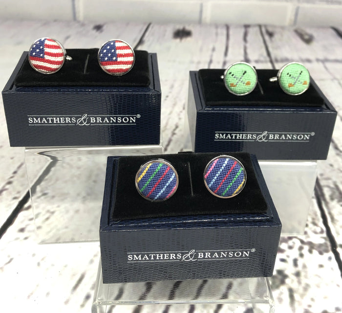 Needlepoint Cuff Links - 3 Styles