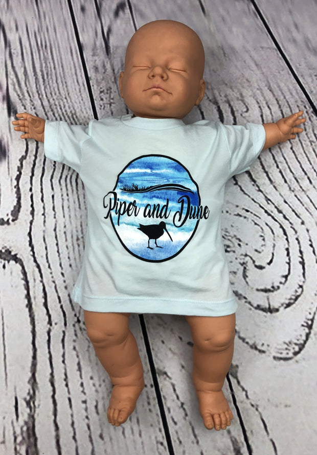 Piper and Dune Ice Blue Baby Triblend Tee