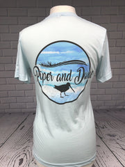 Piper and Dune Unisex Ice Blue (Short Sleeve) T-Shirt