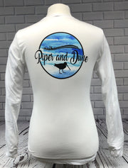 Piper and Dune White Unisex Adult (Long Sleeve) Jersey