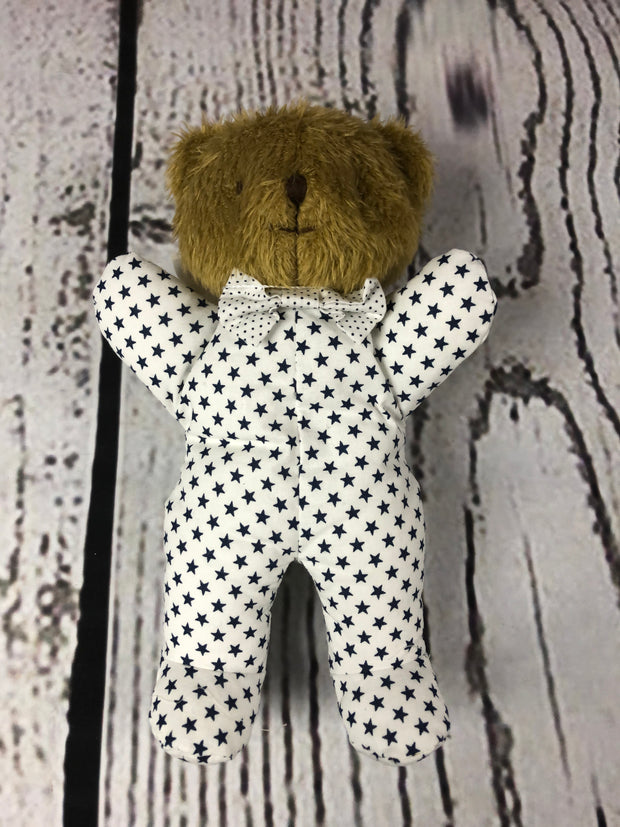Baby Sleepytime Bear - White Navy Star