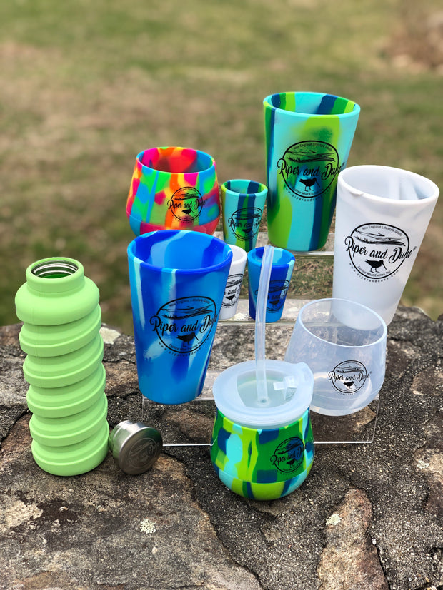 Unbreakable  Silicone Pint Glass 16 oz. - 3 Colors!