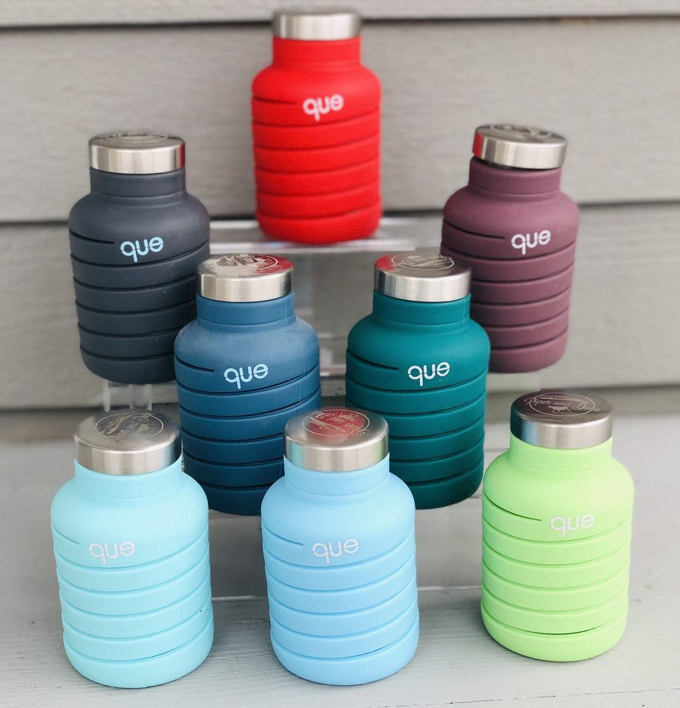 Unbreakable Silicone Piper and Dune que Bottles 20oz. - 8 colors!