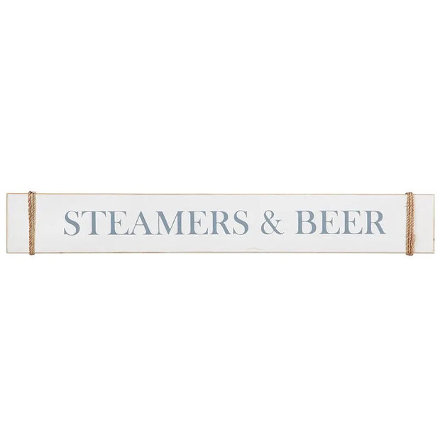 Wood Sign - Steamers & Beer