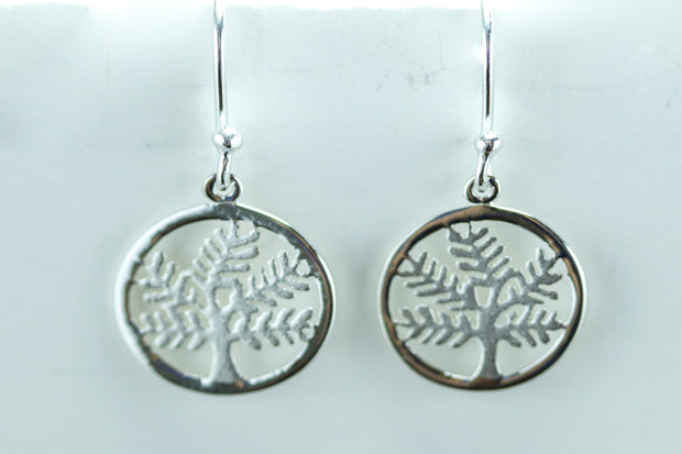 Sterling Silver Tree of Life Hook Earrings - piper-and-dune - Jewelry
