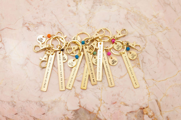 Inspirational Sentiment Keychains - piper-and-dune - Accessories