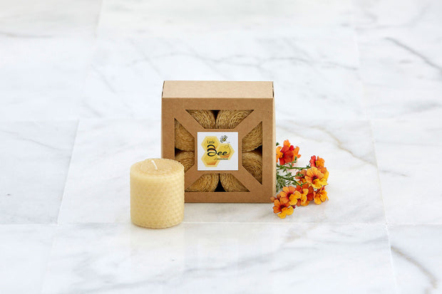 Rolled Votive 4 Pack - Little Bee of Connecticut