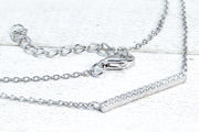Sterling Silver Bar CZ Necklace - piper-and-dune - Jewelry