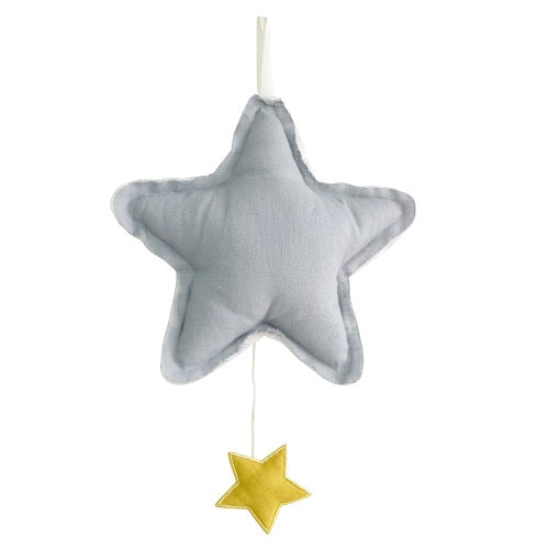 Star Musical - Grey Linen - piper-and-dune - Baby + Kids