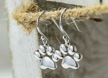 Sterling Silver Paw Earrings - piper-and-dune - Jewelry