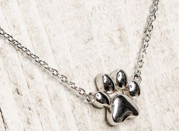 Sterling Silver Paw Necklace - piper-and-dune - Jewelry