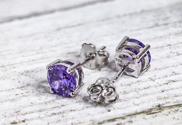 Sterling Silver Amethyst CZ Set - piper-and-dune - Jewelry