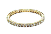 Solid 14K Yellow Gold Eternity CZ Ring - piper-and-dune - Jewelry