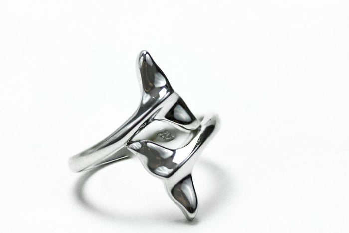 Sterling Silver Dolphin Fins Ring - piper-and-dune - Jewelry