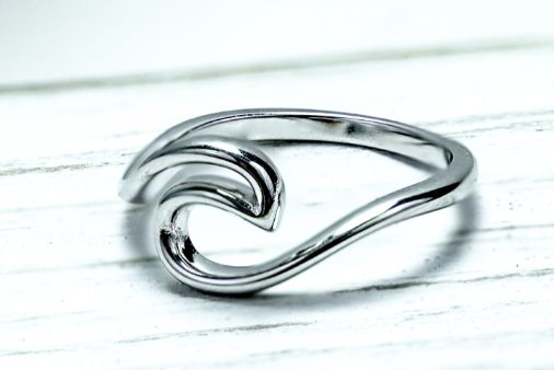 Sterling Silver Ocean Wave Ring - piper-and-dune - Jewelry