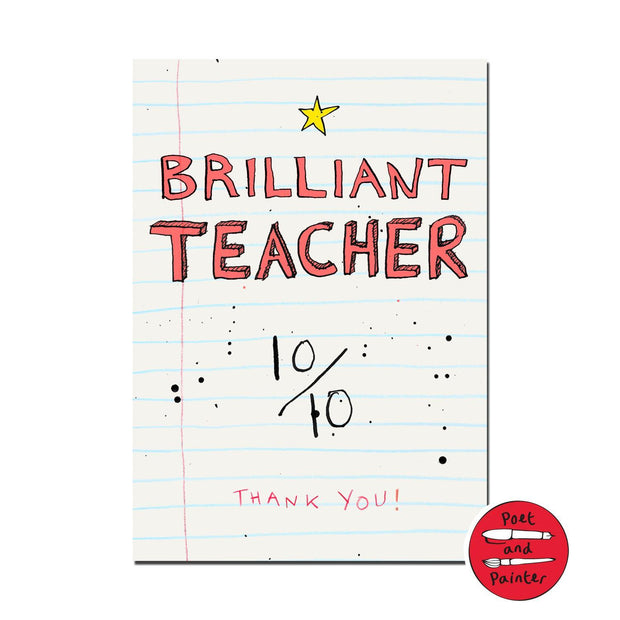 """Brilliant Teacher"" Occasion Card - Paper"