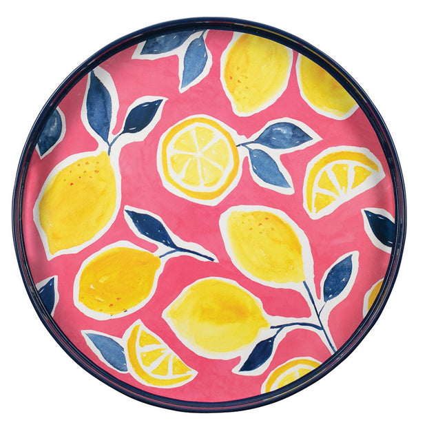 Round Lacquer Serving Tray(s) - 4 Options!