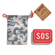 SOS Emergency Kit with Tin Box and Drawstring Bag