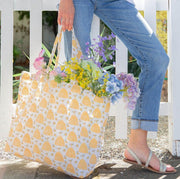 Small Beehive Jute Bucket Tote Bag