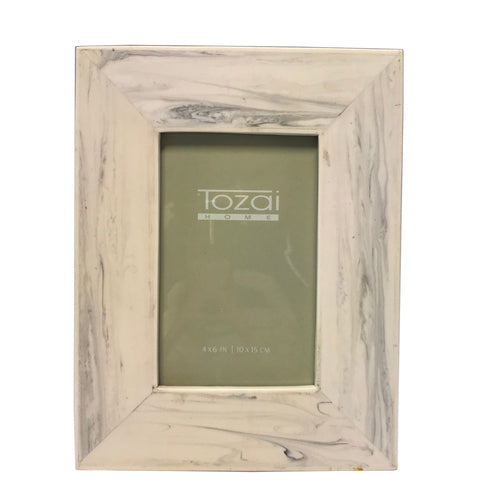 "Carrara Faux Marble Photo Frames - 4""x 6"" and 5""x 7"""