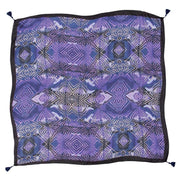 Jordyn Blue Square Silk Scarf