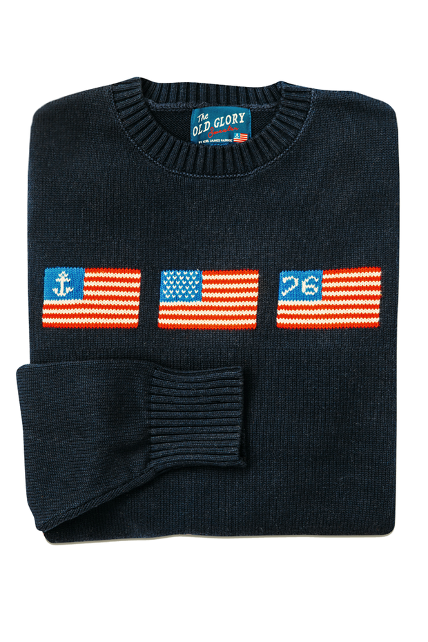 Old Glory Unisex Sweater - Navy - piper-and-dune - Apparel