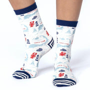 Women's Fun, Cushioned Patterned Socks - 8 Styles