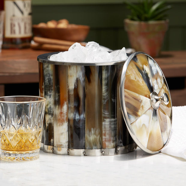 Horn Ice Bucket with Lid - piper-and-dune - Kitchen