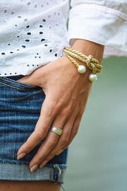 Classy Girls Gold Cuff Bracelet - piper-and-dune - Jewelry