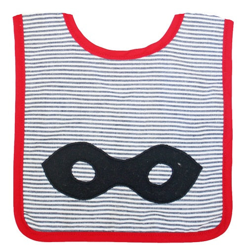 Superhero Bib Grey - piper-and-dune - Baby + Kids