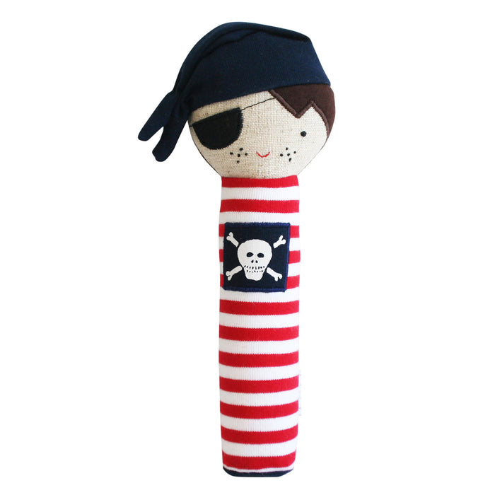 Linen Pirate Squeaker Navy & Red - piper-and-dune - Baby + Kids