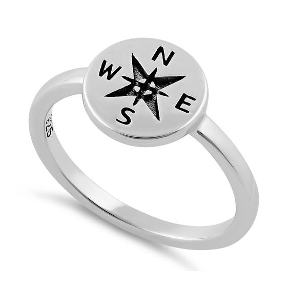 Sterling Silver Compass Ring - piper-and-dune - Jewelry