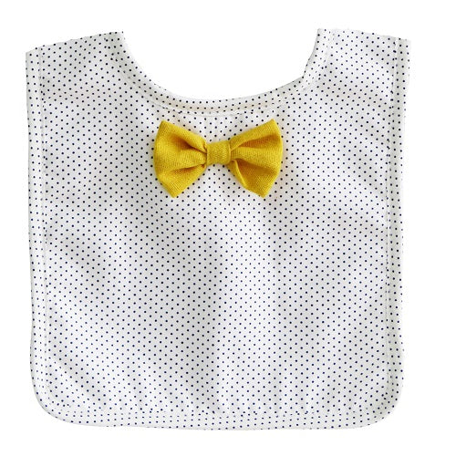 Bow Tie Bib Navy Pinspot - piper-and-dune - Baby + Kids