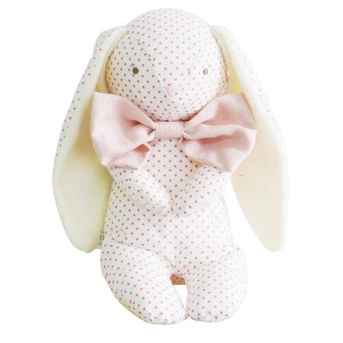 Roberta Floppy Bunny - Spot Pink & Bowtie - piper-and-dune - Baby + Kids