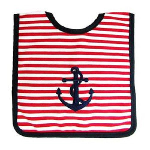 Anchor Bib Red Navy - piper-and-dune - Baby + Kids