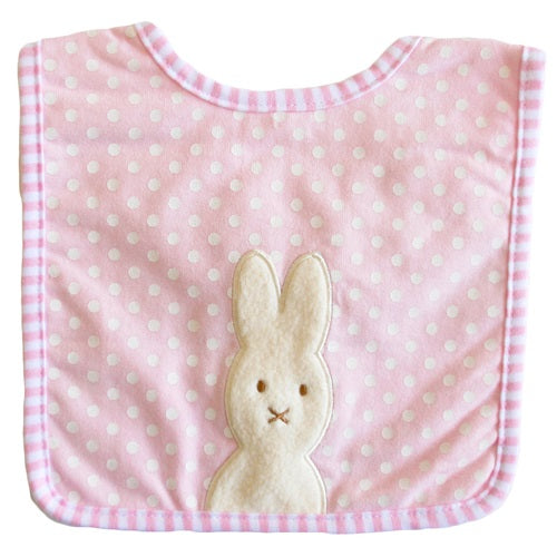 Bunny Applique Bib Pink - piper-and-dune - Baby + Kids
